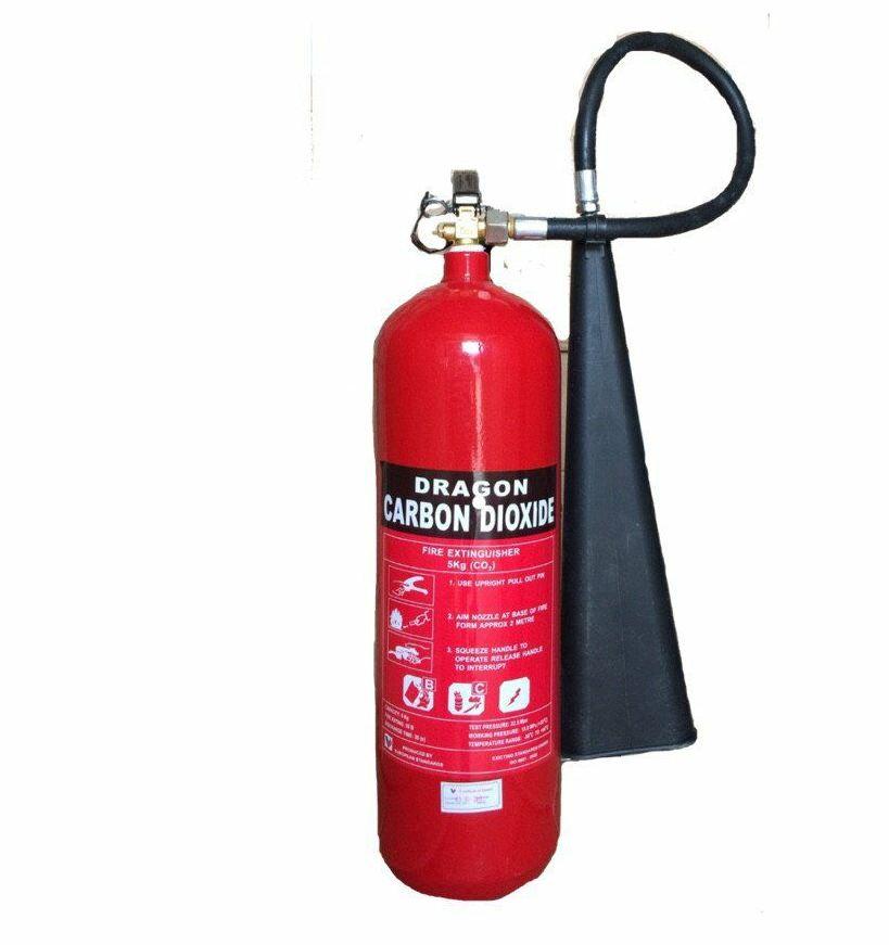 Bình CO2 chữa cháy được dùng để dập các đám cháy trong nhà