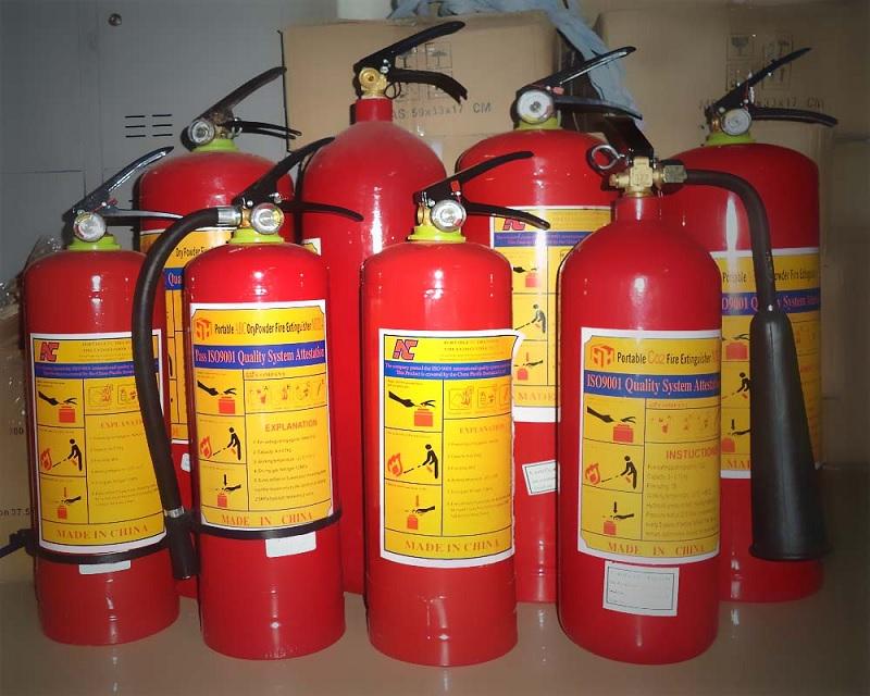 Các loại bình chữa cháy đang được dùng phổ biến trên thị trường