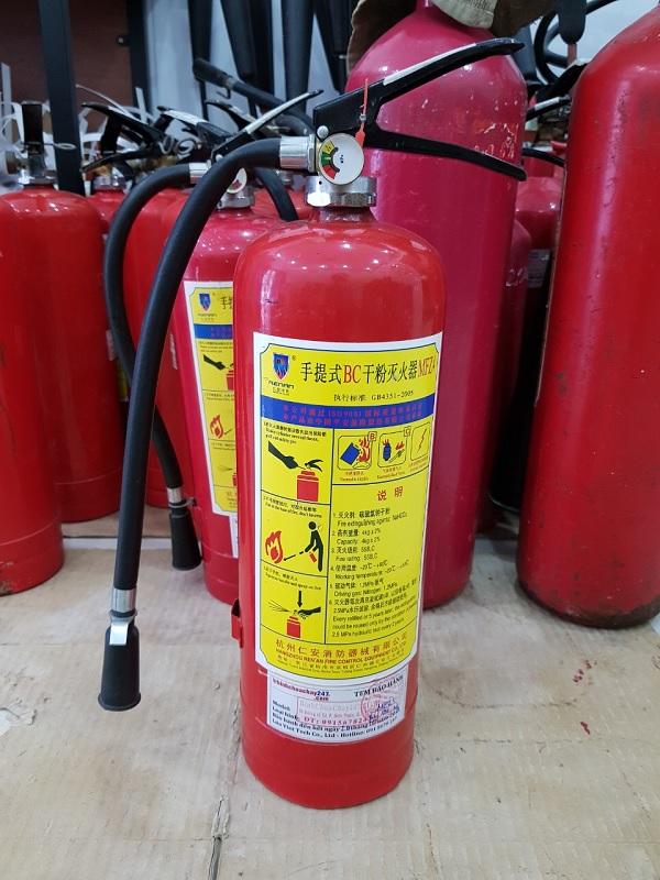 Cấu tạo bình chữa cháy bột MFZ