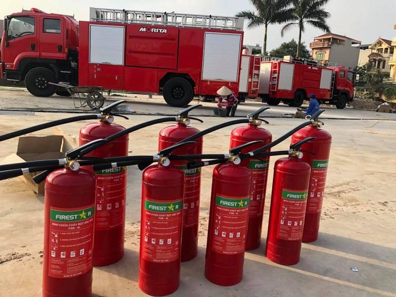 Công ty đến tận nơi để thu gom bình chữa cháy về nạp sạc